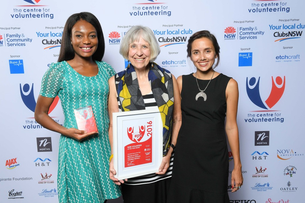 L-R Jennifer Lonji, Mary Boland & Grace Dawson from @WIPANOZ - NSW Volunteer Team of the Year