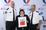 L-R Award for Outstanding Contribution Recipient - NSW Rural Fire Service Leigh Pilkington, Bronwyn Jones & Les Fowler