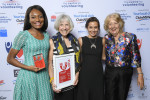 L-R Jennifer Lonji, Mary Boland & Grace Dawson from @WIPANOZ - NSW Volunteer Team of the Year and Valerie Hoogstad, Chairperson The Centre for Volunteering