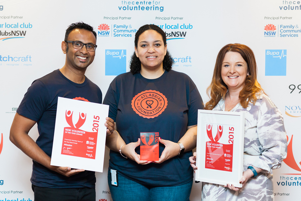 Representatives from The Atlassian Foundation - Corporate Volunteer Team of the Year