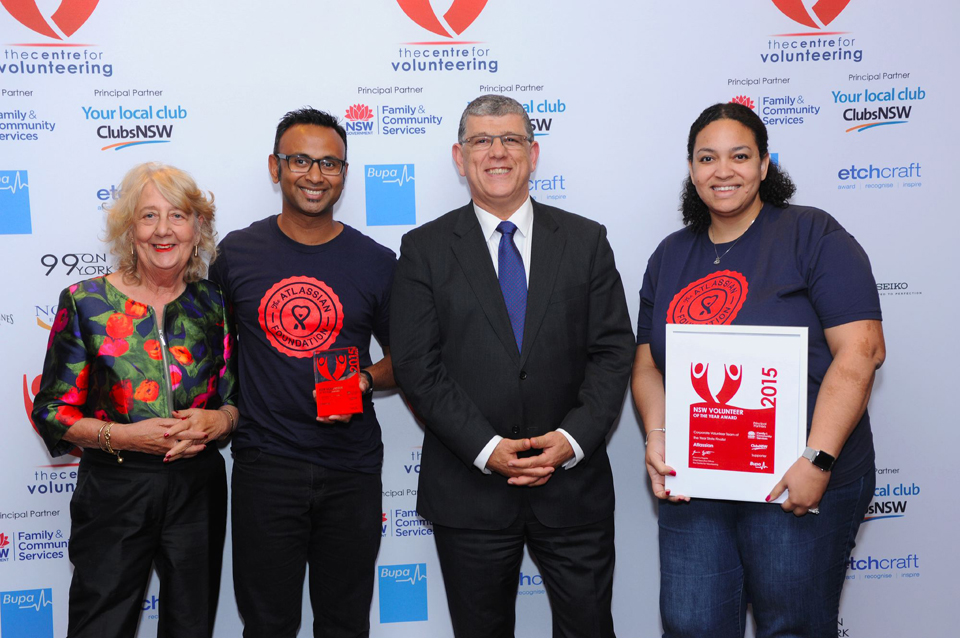 The Atlassian Foundation with NSW Minister for Multiculturalism Mr John Ajaka