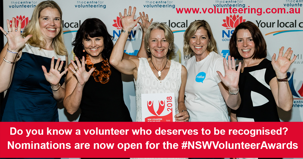 2019 NSW Volunteer Of the Year Awards Resources – The Centre for  Volunteering